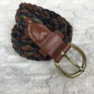 Accessories - Genuine Leather Multicolored Braided Belt